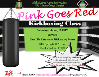2019 Pink Goes Red Kickboxing Class