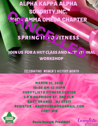 CANCELLED: SPRING INTO FITNESS
