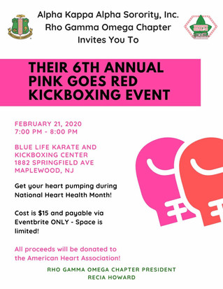 6th Annual Pink Goes Red Kickboxing Class