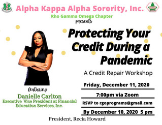 Protecting Your Credit During a Pandemic: Upcoming Program