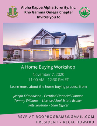 Join Us for a Virtual Home Buying Workshop!