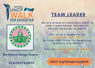 Upcoming Event: UNCF Virtual Walk