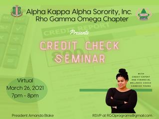 Credit Check Seminar