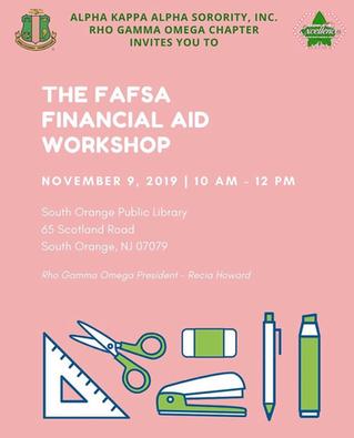The FAFSA Financial Aid Workshop