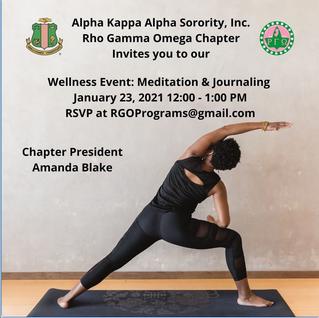 Wellness Event: Meditation & Journaling