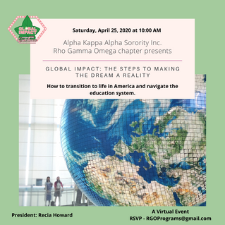 Rho Gamma Omega invites you to our annual Global Impact Summit