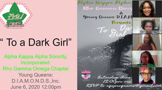 """RECAP: """"To A Dark Girl"""" Virtual Poetry Read & Discussion"""