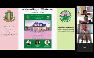 RECAP: Home Buying Workshop