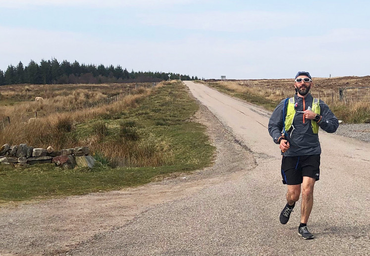 Despite barely having a break after ultra 4, Mark completed the 100 mile St Maelrubha Way ultramarathon in Holy Week