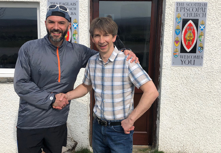 Run 5 - Mark and Duncan Campbell after the service at the Crask Inn
