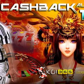 Bonus Cashback 10% All Games KOI365