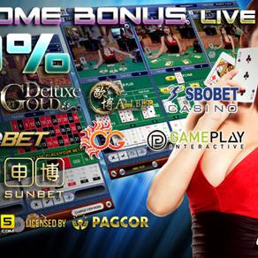 Welcome Bonus LIVE CASINO 30% KOI365