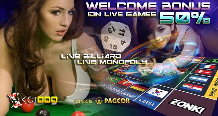 IDNlive Billiard, Monopoly Promo Bonus new member