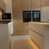 Handleless kitchen Fradley
