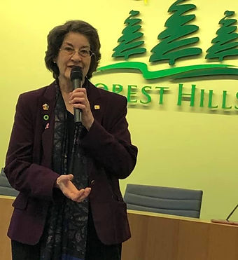 Patricia DeMarco at Forrest Hills Municipal Building