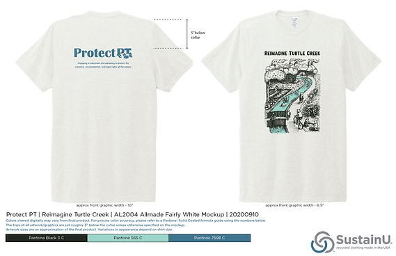 Reimagine Turtle Creek T-Shirt by SustainU