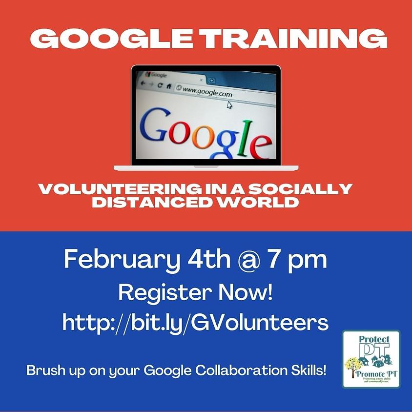 Google Training: Volunteering in a Socially Distanced World