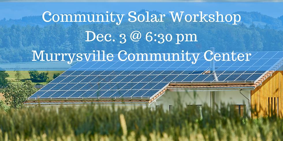 Community Solar Workshop