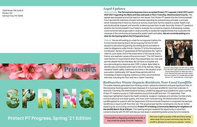 Protect PT's 2021 Spring Newsletter