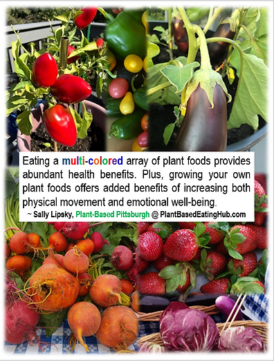 health benefits of backyard gardens Sally Lipsky quote