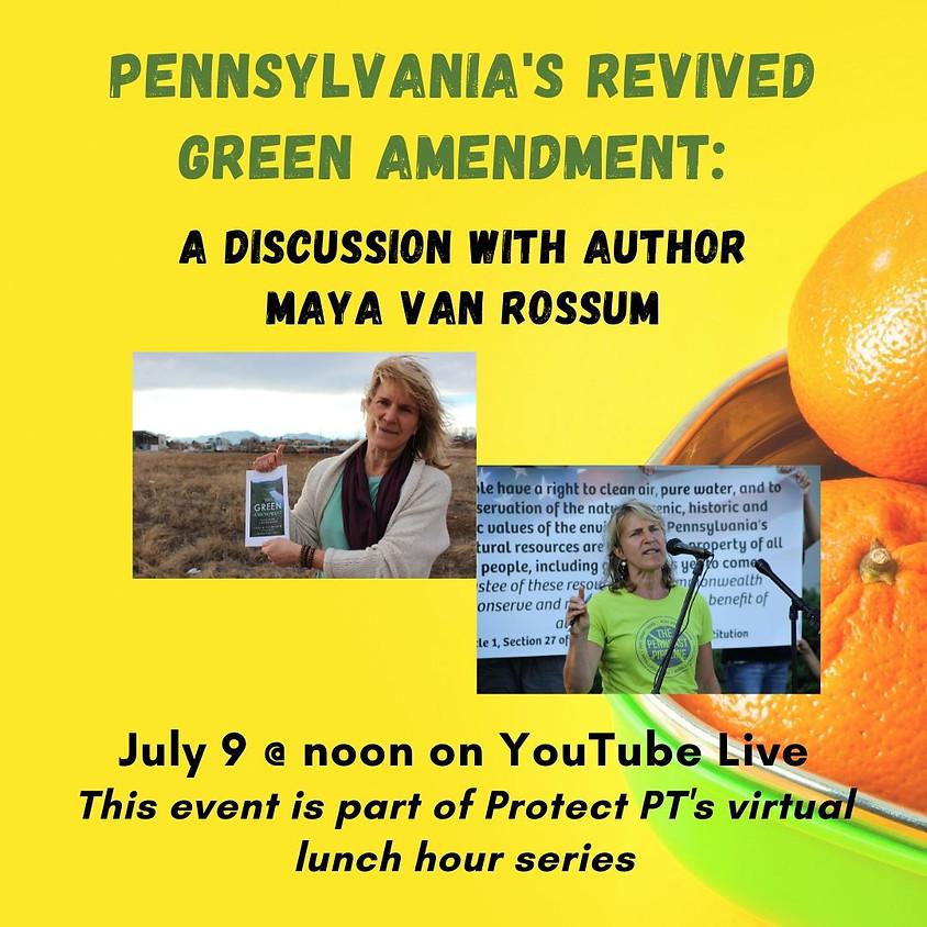 Pennsylvania's Revived Green Amendment: A discussion with Maya van Rossum
