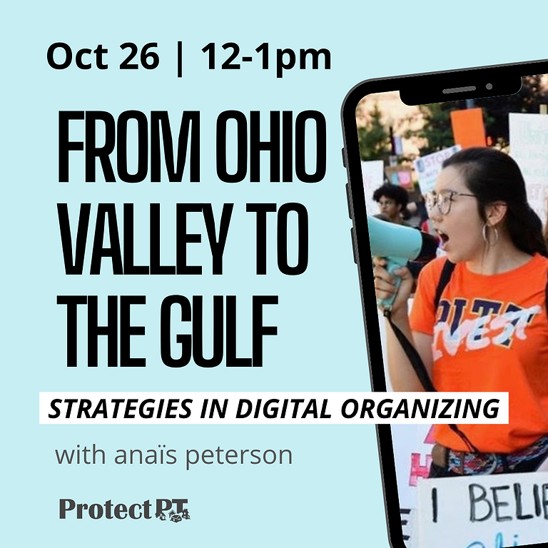 Community Lunch and Learn : From Ohio Valley to the Gulf - strategies in digital organizing