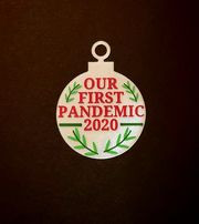 Pandemic Holly Ornament