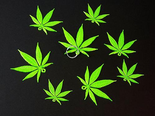 420 Leaf Key Chain