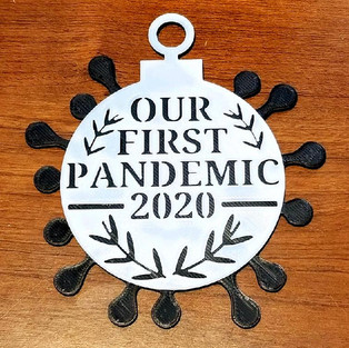 Our First Pandemic Ornament 2