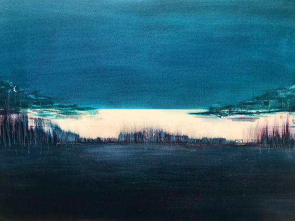 A Night Place   50 x 70 cm  oil on canva
