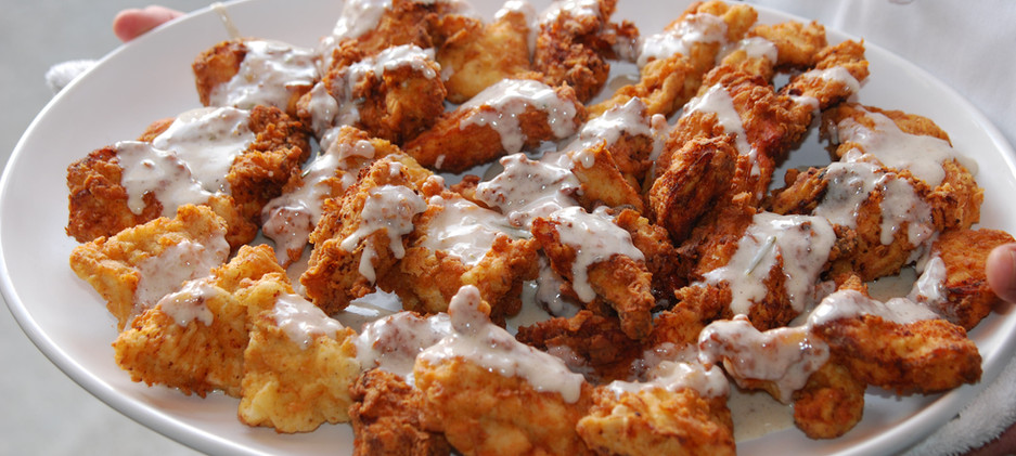 fried chicken with sauce.JPG