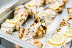 Lemon Pepper Grilled Chicken with Cream Sauce
