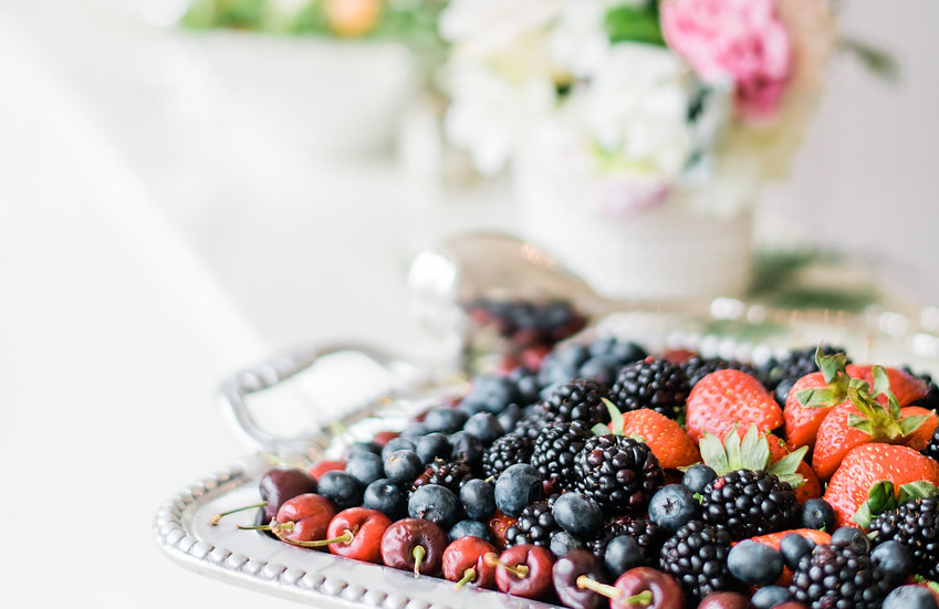 Mixed berry platter