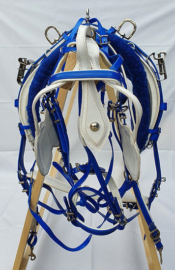 QUICK HITCH HARNESS BIOTHANE BLUE/WHITE