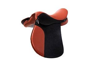 LEATHER HORSE SADDLE WITH SYNTHETIC SEAT