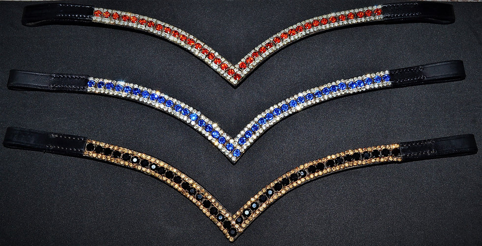 BLING DIAMANTE DRESSAGE SHOW BROWBANDS