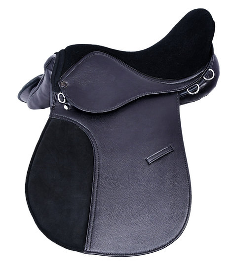 SYNTHETIC LEATHER HORSE SADDLE SUEDE SEAT & PAD
