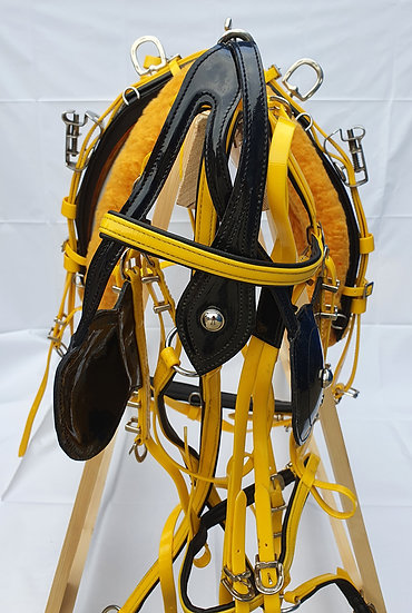 QUICK HITCH HARNESS BIOTHANE YELLOW/BLACK