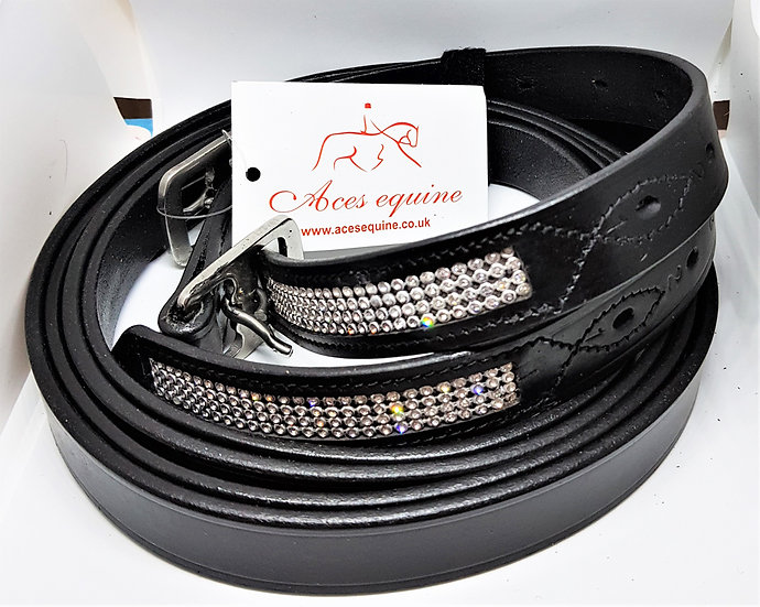 LEATHER HORSE STIRRUP BLING DIAMANTE