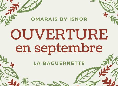 ÔMARAIS et LA BAGUERNETTE : OUVERTS TOUS LES JOURS EN SEPTEMBRE