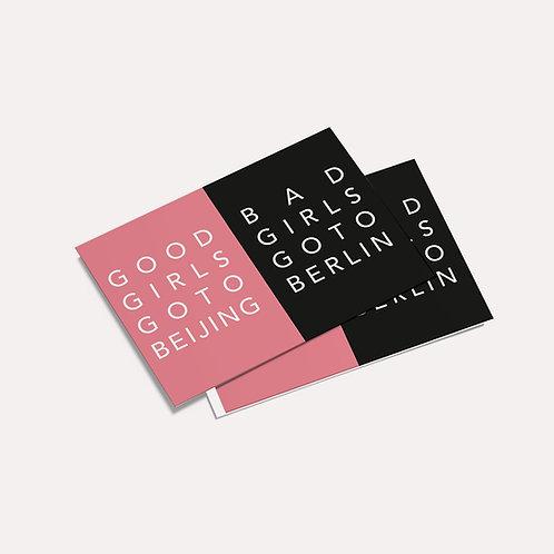 Doooogs | [ Good Girl Bad Girl ] Postcard