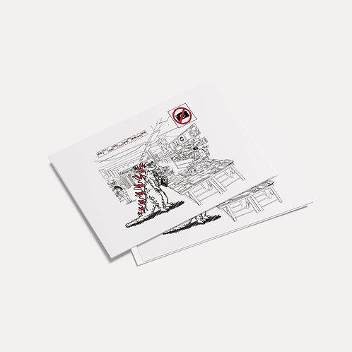 Doooogs   [ Bookshops in Berlin - Neurotitan ] Postcard - Drawing by mago_sminz