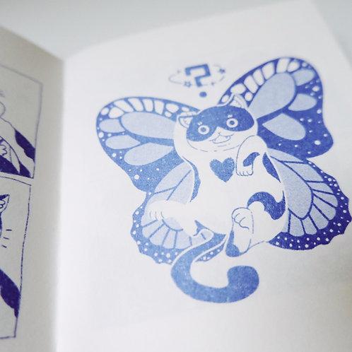 Monsterworkshop | Riso Zine「Butterfly · Cat」蝴蝶 · 猫