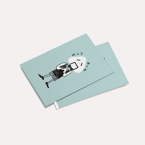 Doooogs   [ 吃什么补什么 ] Postcard - Drawing by EmmaBan