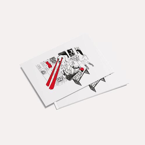 Doooogs | [ Bookshops in Berlin - schikkimikki ] Postcard -Drawing by mago_sminz