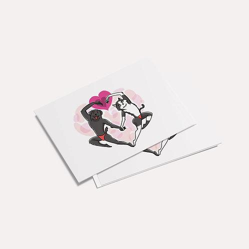 Doooogs | [Love Has No Boundaries ] Postcard - Drawing by Biu大王