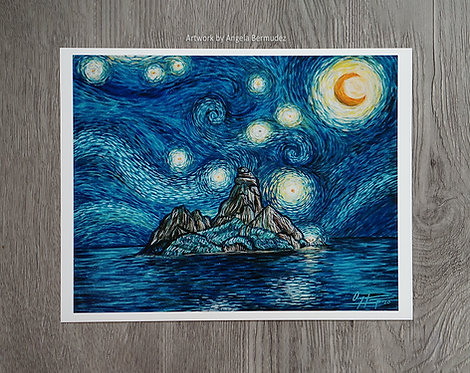 Print: Monkey Island á la Van Gogh