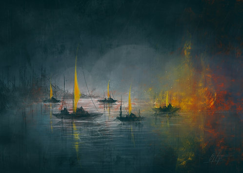 Print: Boats