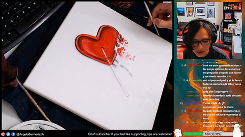"""""""Defeated"""" Livestream Painting"""