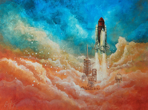 Space Shuttle, Luster Print